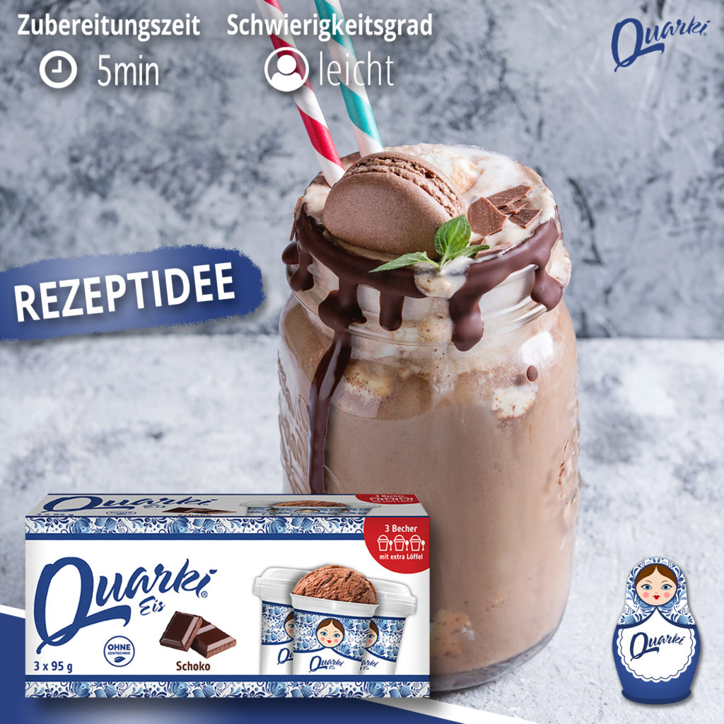 Quarki Rezept Schoko-Milkshake