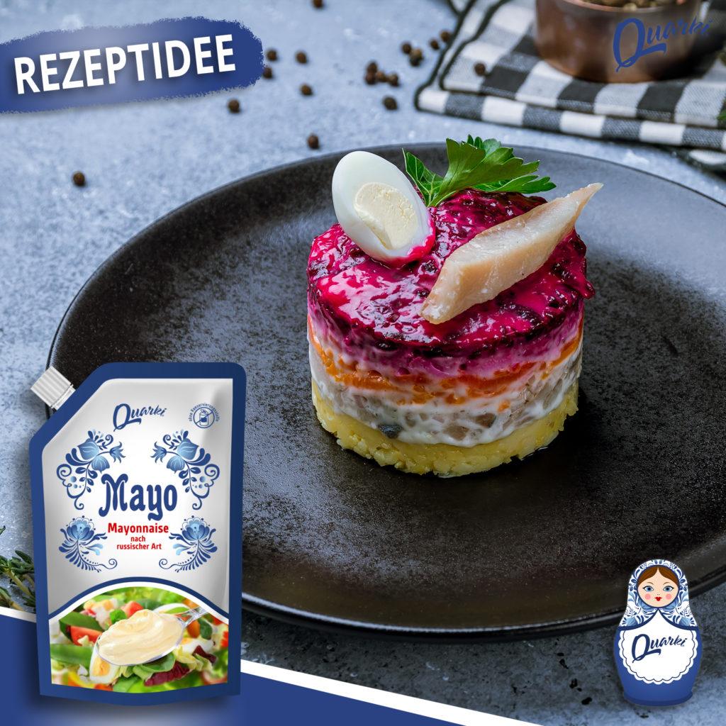 Quarki Rezept Traditioneller russischer Heringssalat