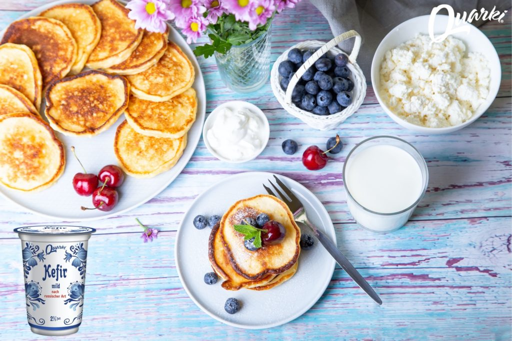 Quarki Rezept Aladushki mit Kefir (Pancakes)