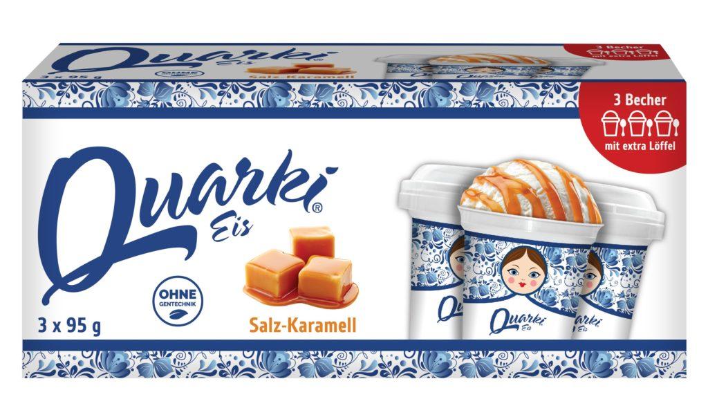 Quarki Quarki Eis Karamell 3 x 95g