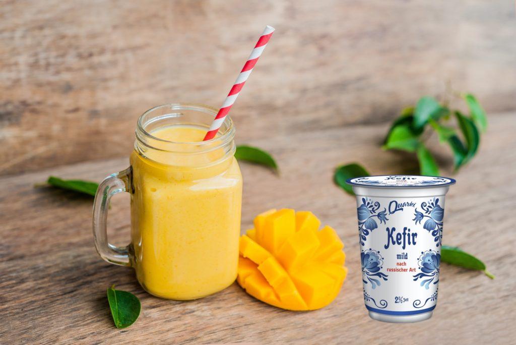 Quarki Rezept Mango Shake mit Kefir